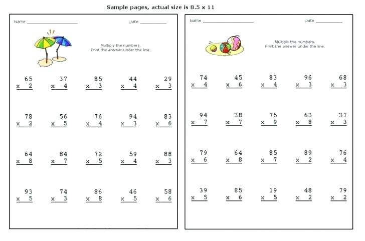 Lattice Method Of Multiplication Worksheets