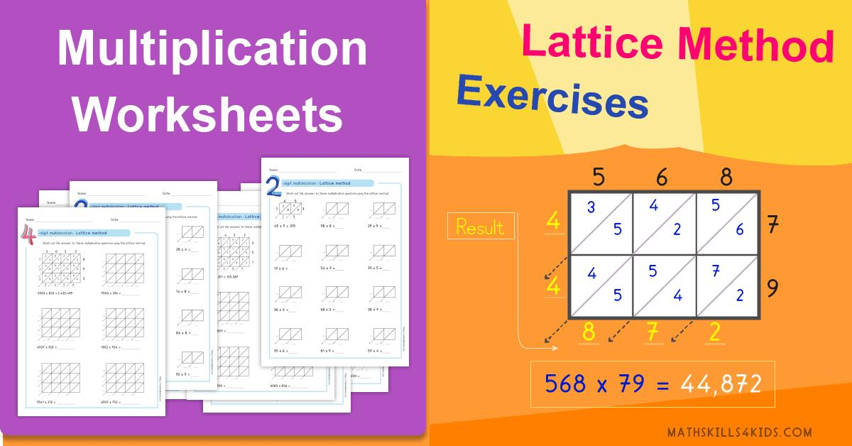 Lattice Multiplication Worksheets Pdf