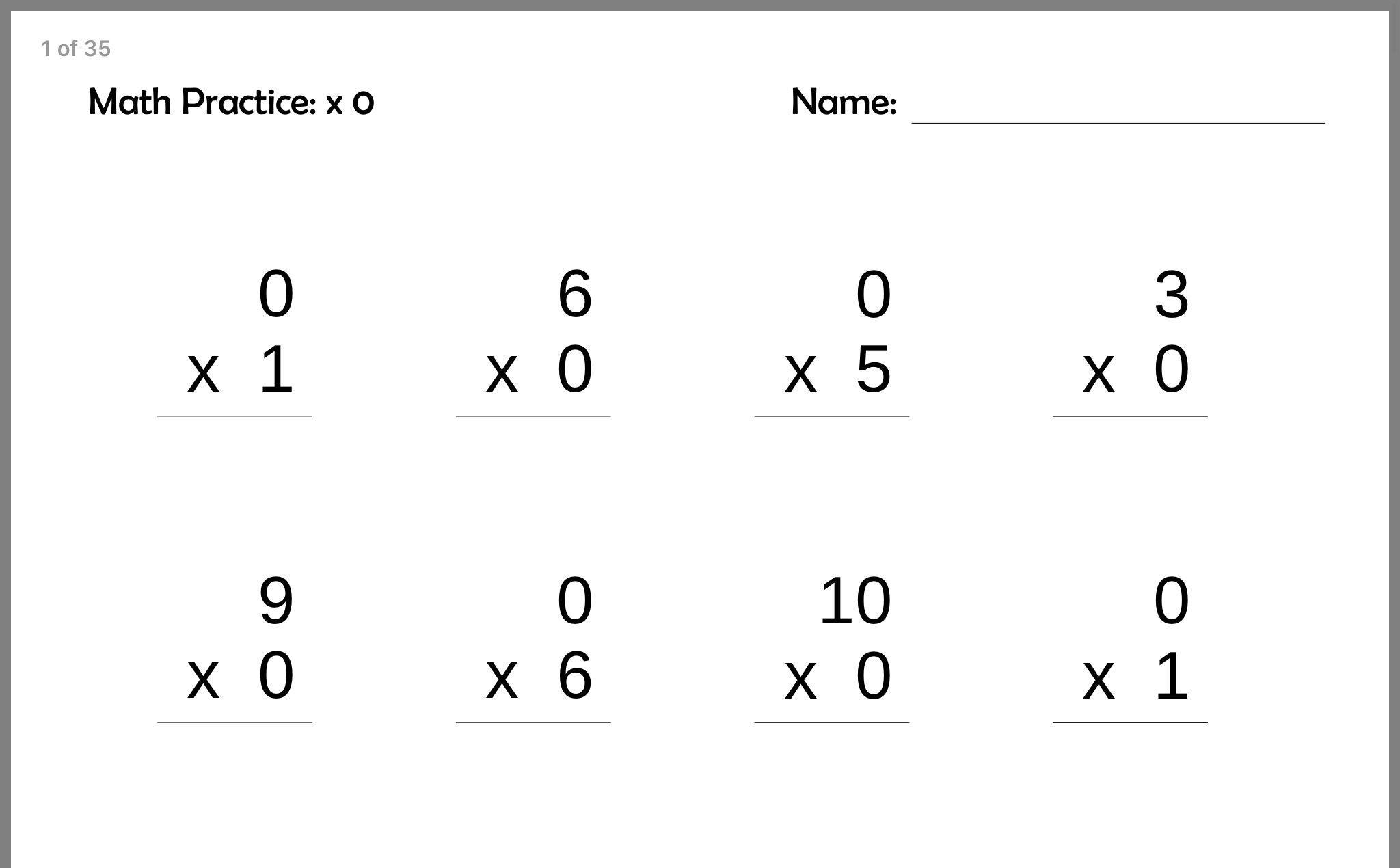 Math Practice Worksheet 3rd Grade