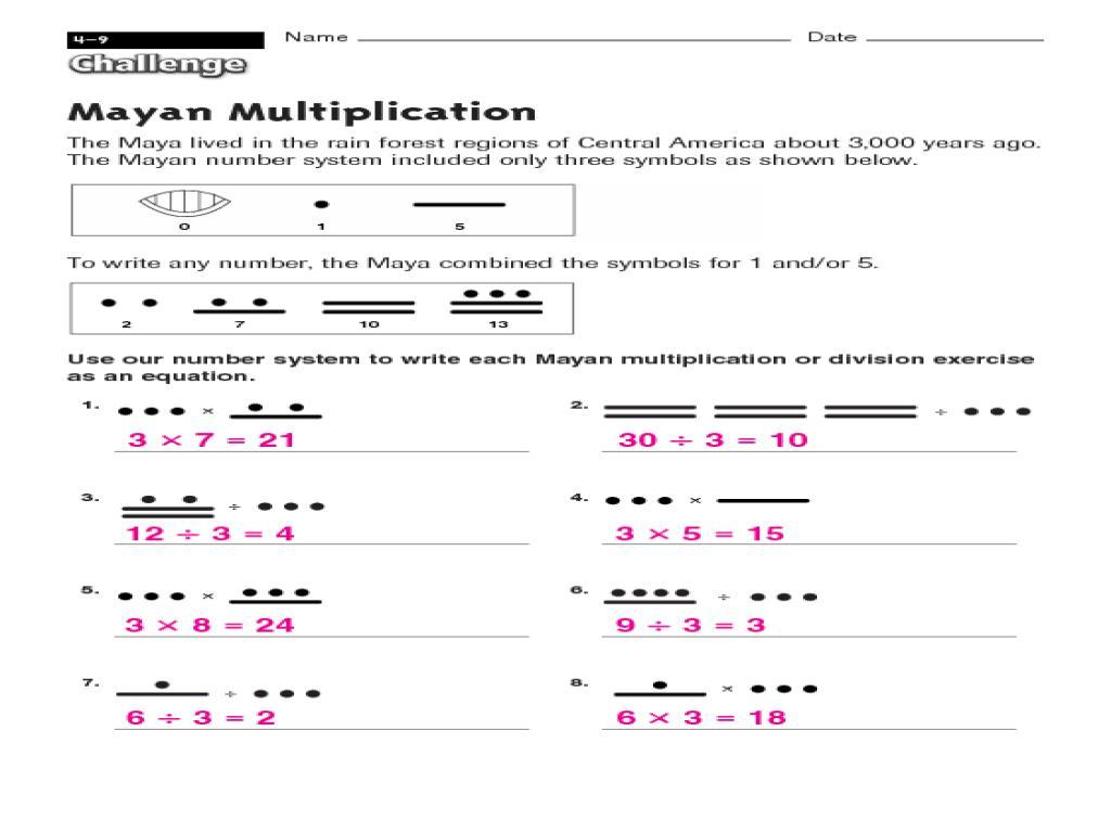 Middle School Multiplication Worksheets Pdf