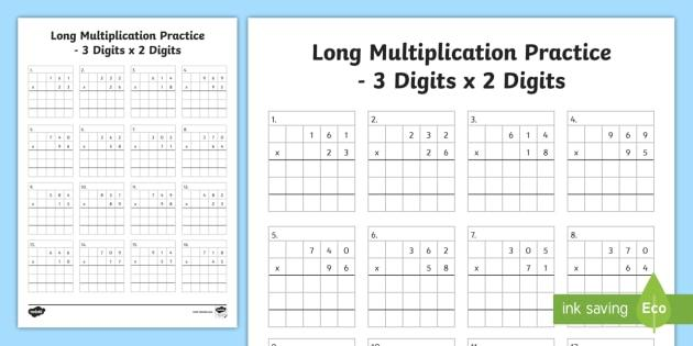 Multiplication Long Division Worksheets