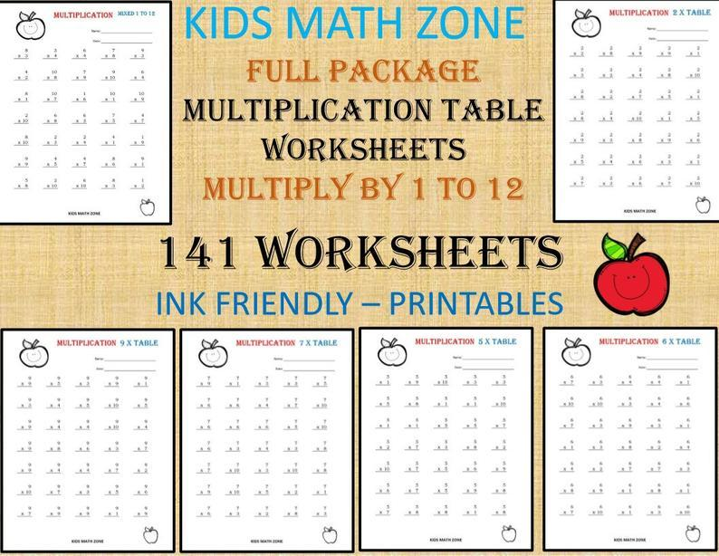 Multiplication Quilt Worksheet 4