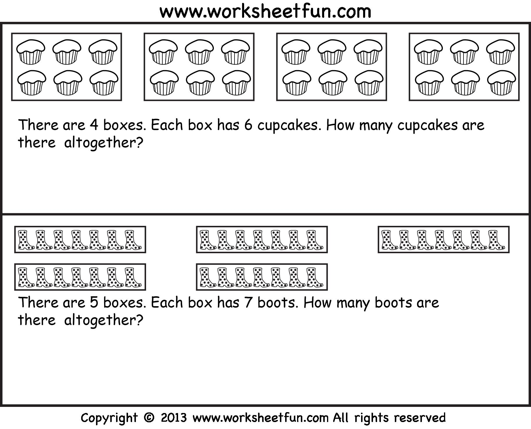 Multiplication Repeated Addition Worksheets Pdf