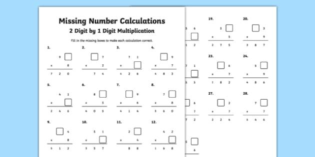 Multiplication Worksheets 2 And 3 Digit