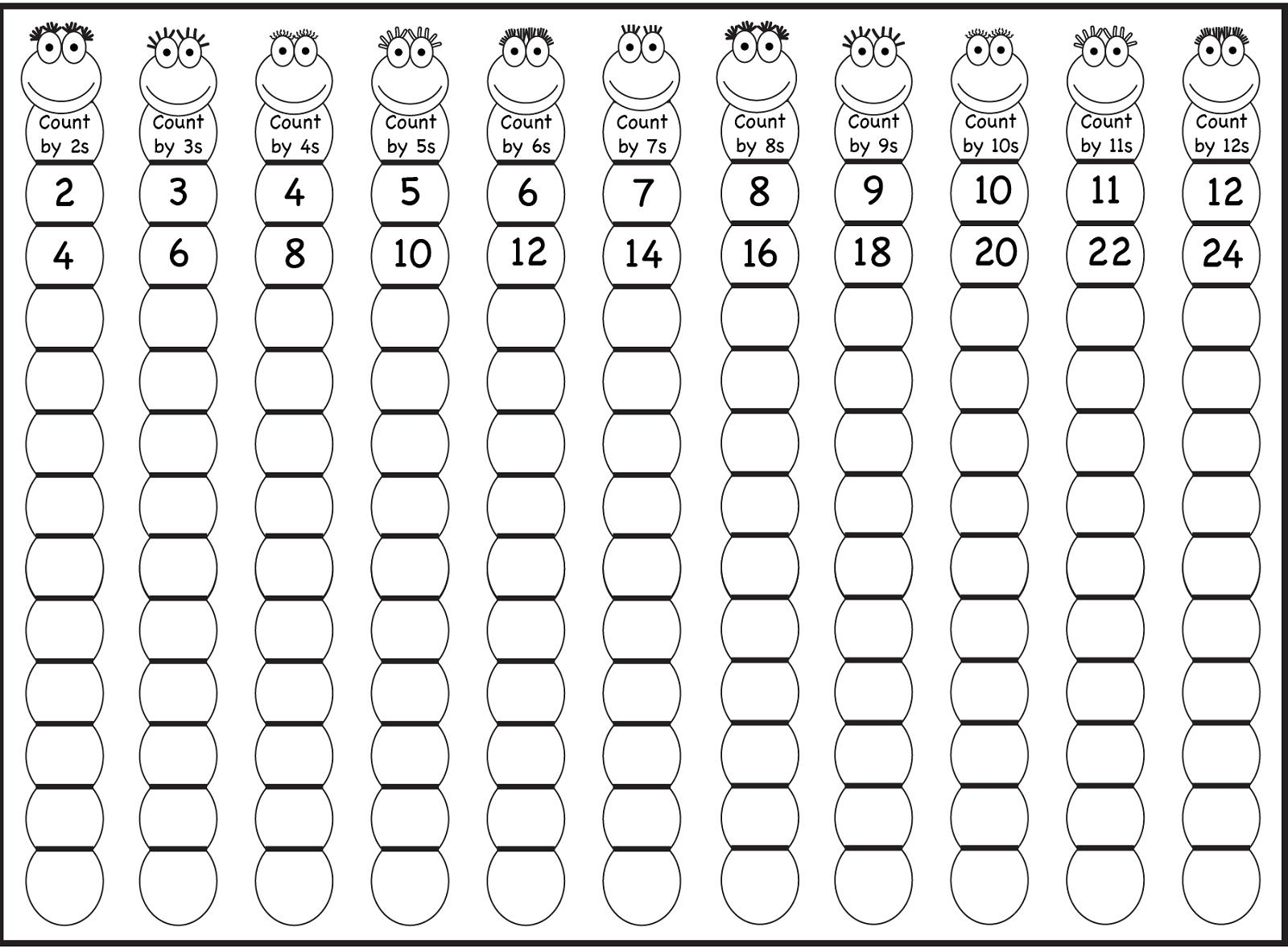 Multiplication Worksheets Level 1 7