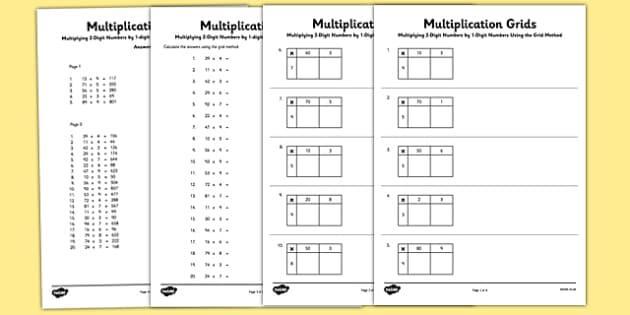 Multiplication Worksheets One Digit 1