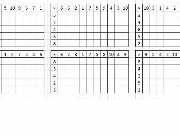 Multiplication Worksheets Random Order 5