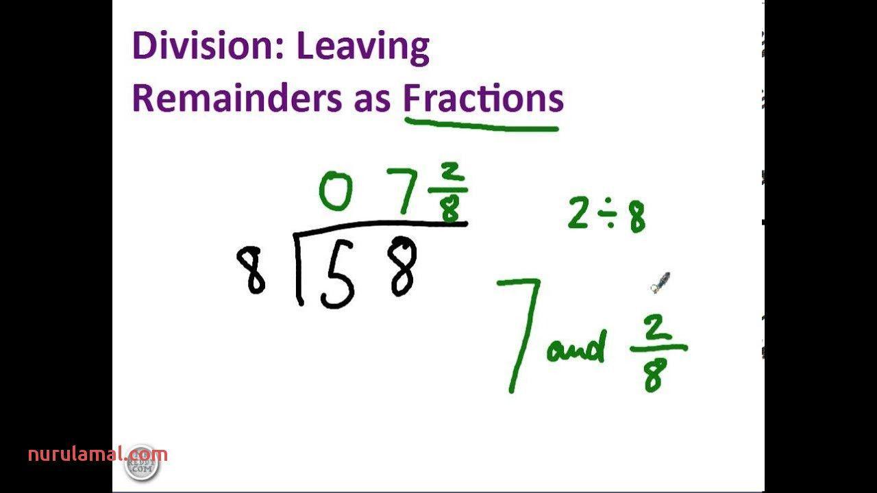Multiplication Worksheets Remainders 4