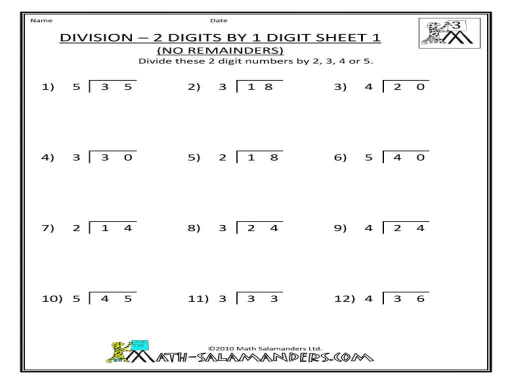 Multiplication Worksheets Remainders 5