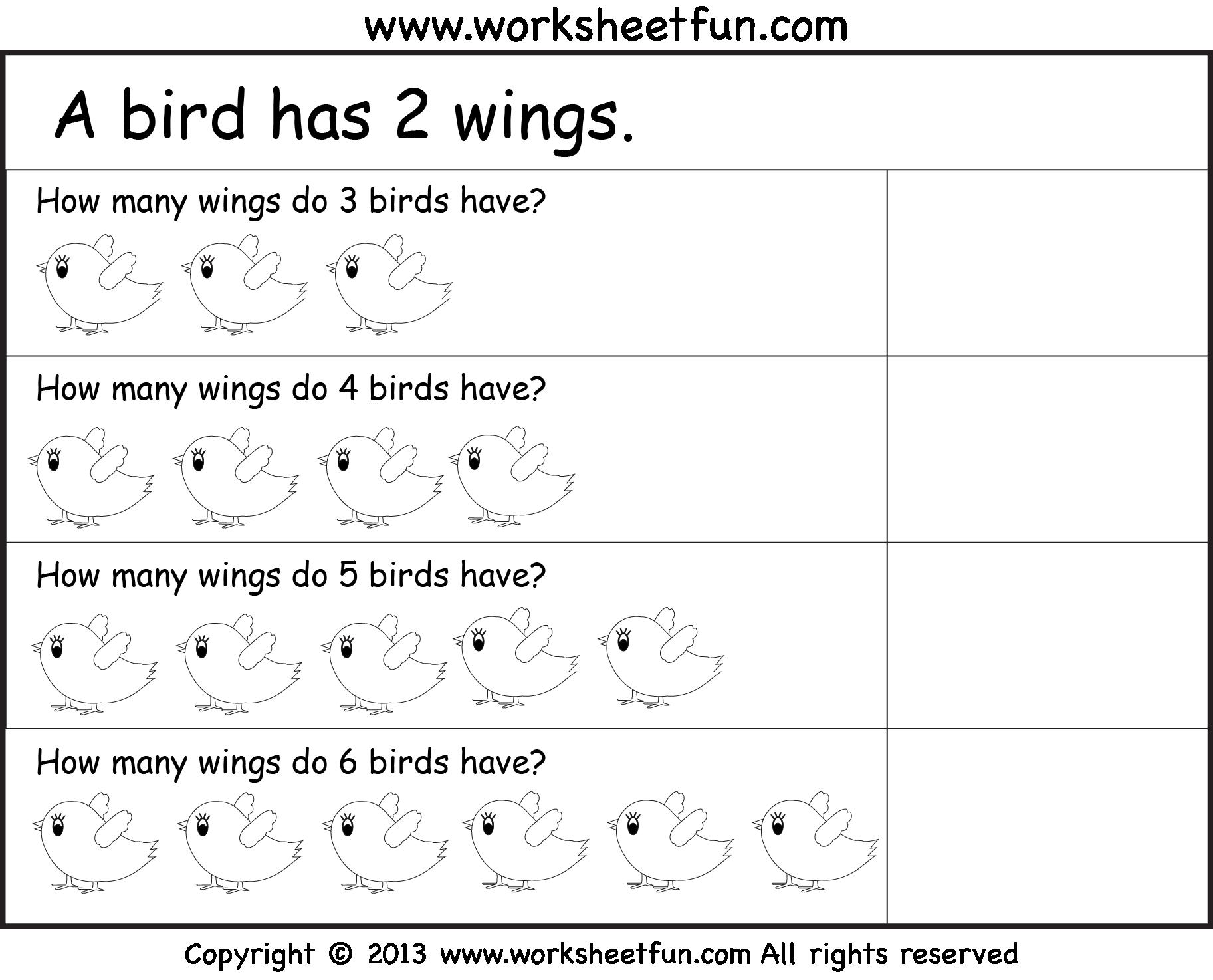 Multiplication Worksheets Repeated Addition 1