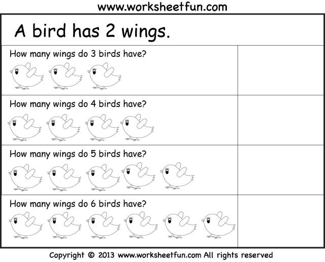 Multiplication Worksheets Repeated Addition