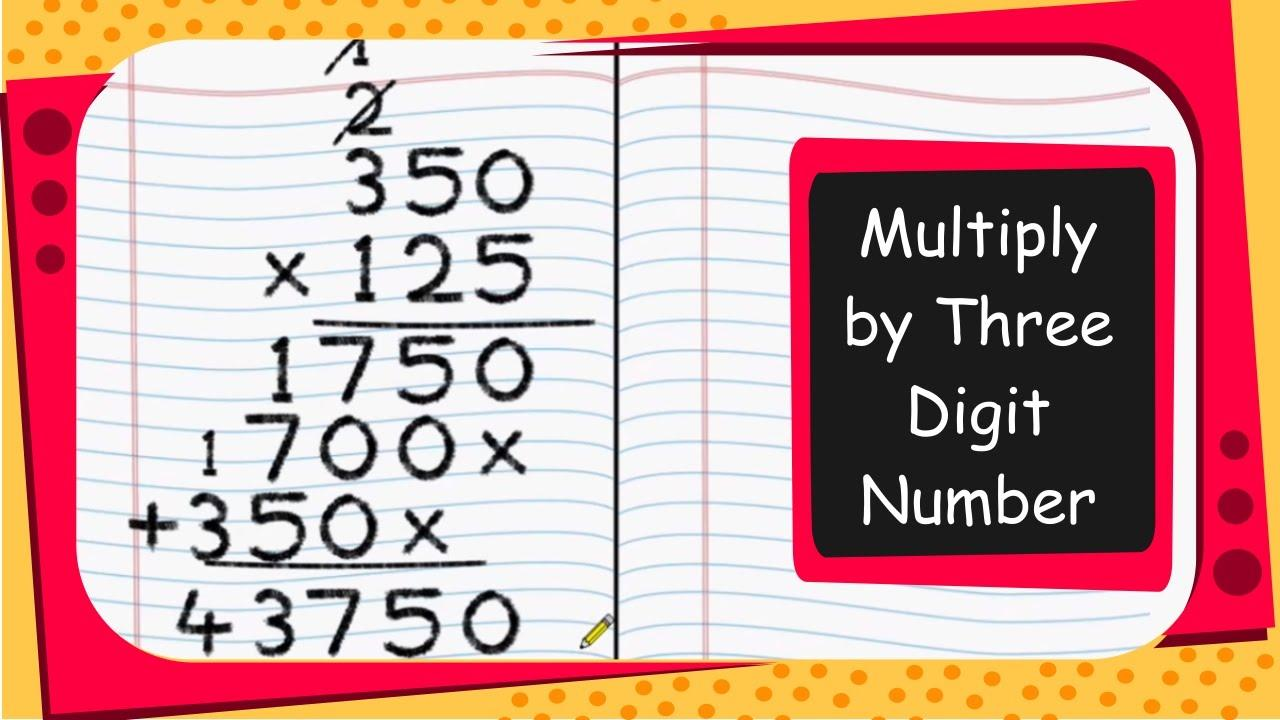 Multiplying Large Numbers Worksheet Pdf