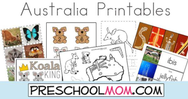 Free Preschool Worksheets Australia