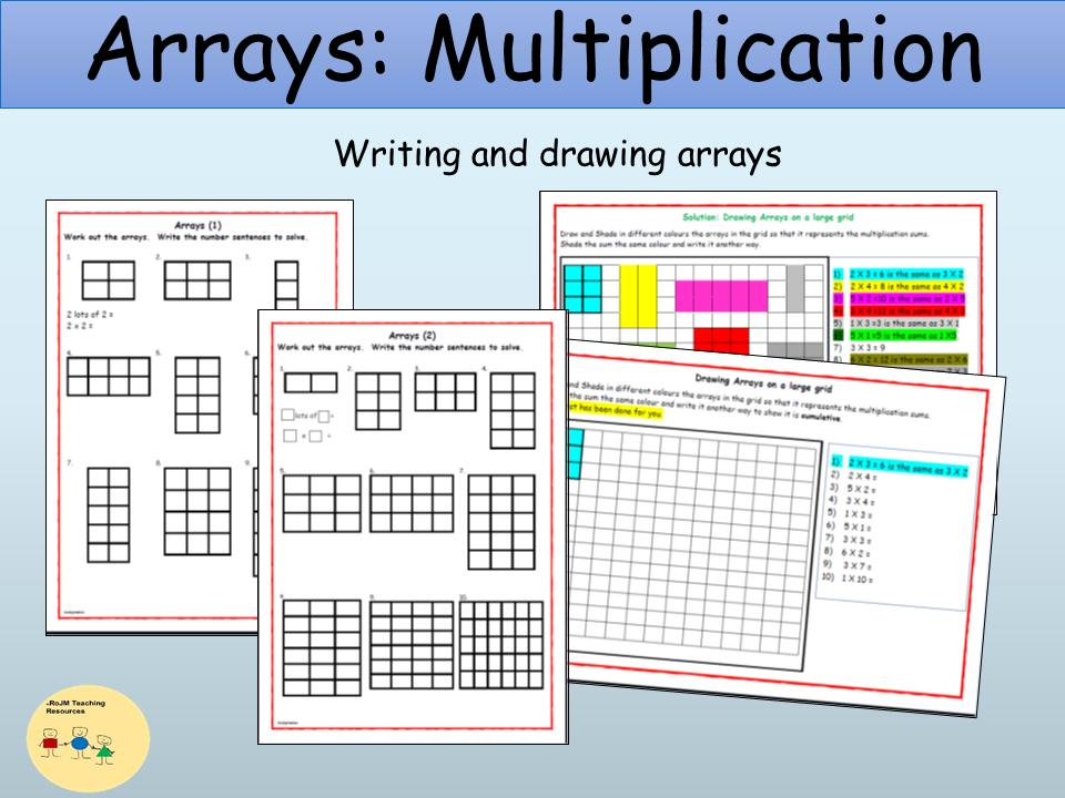 Multiplication With Arrays Worksheets For 2nd Grade
