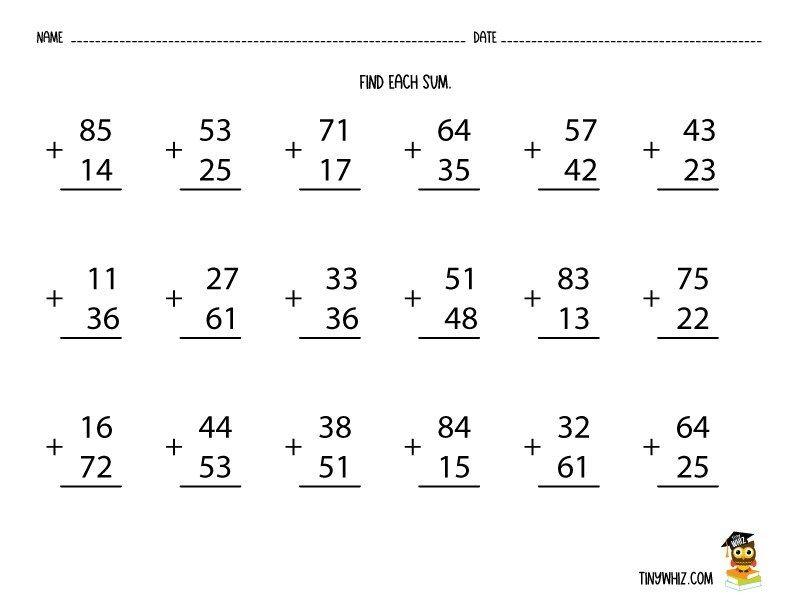 Multiplication Without Regrouping Worksheets Grade 3