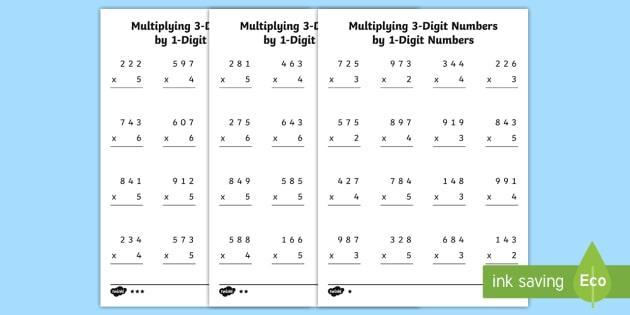 Multiplication Worksheets 3 Digit By 2 Digit Pdf