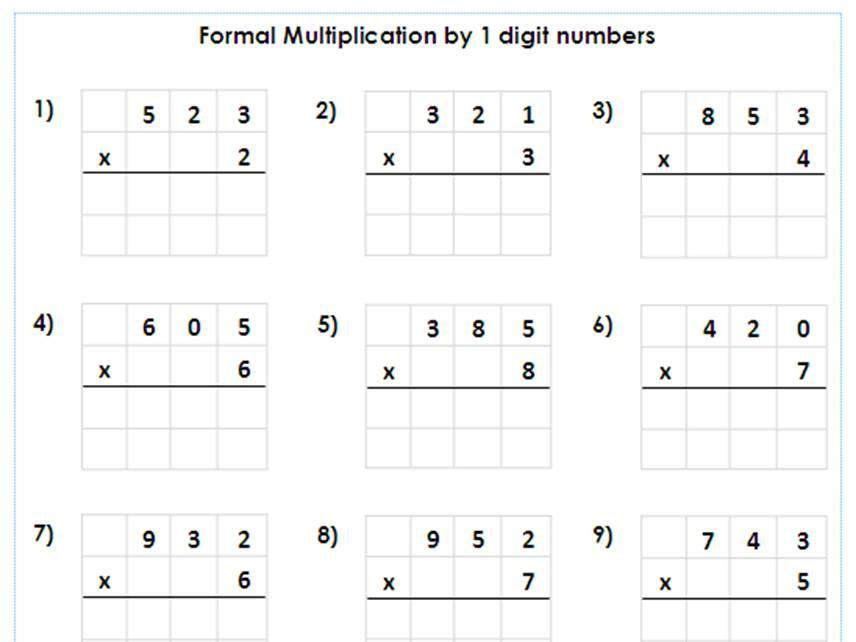 Multiplication Worksheets 6 Through 12