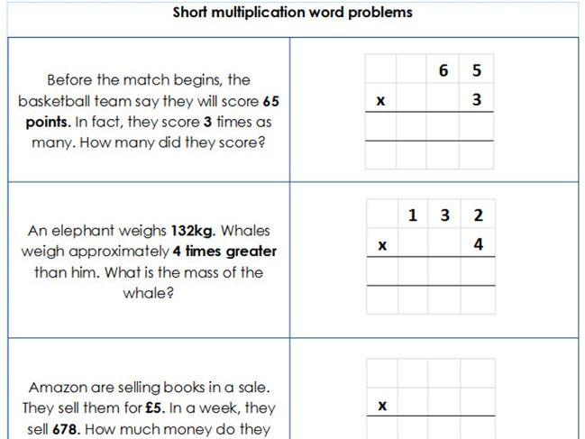 Multiplication Worksheets Grade 4 3 Digits