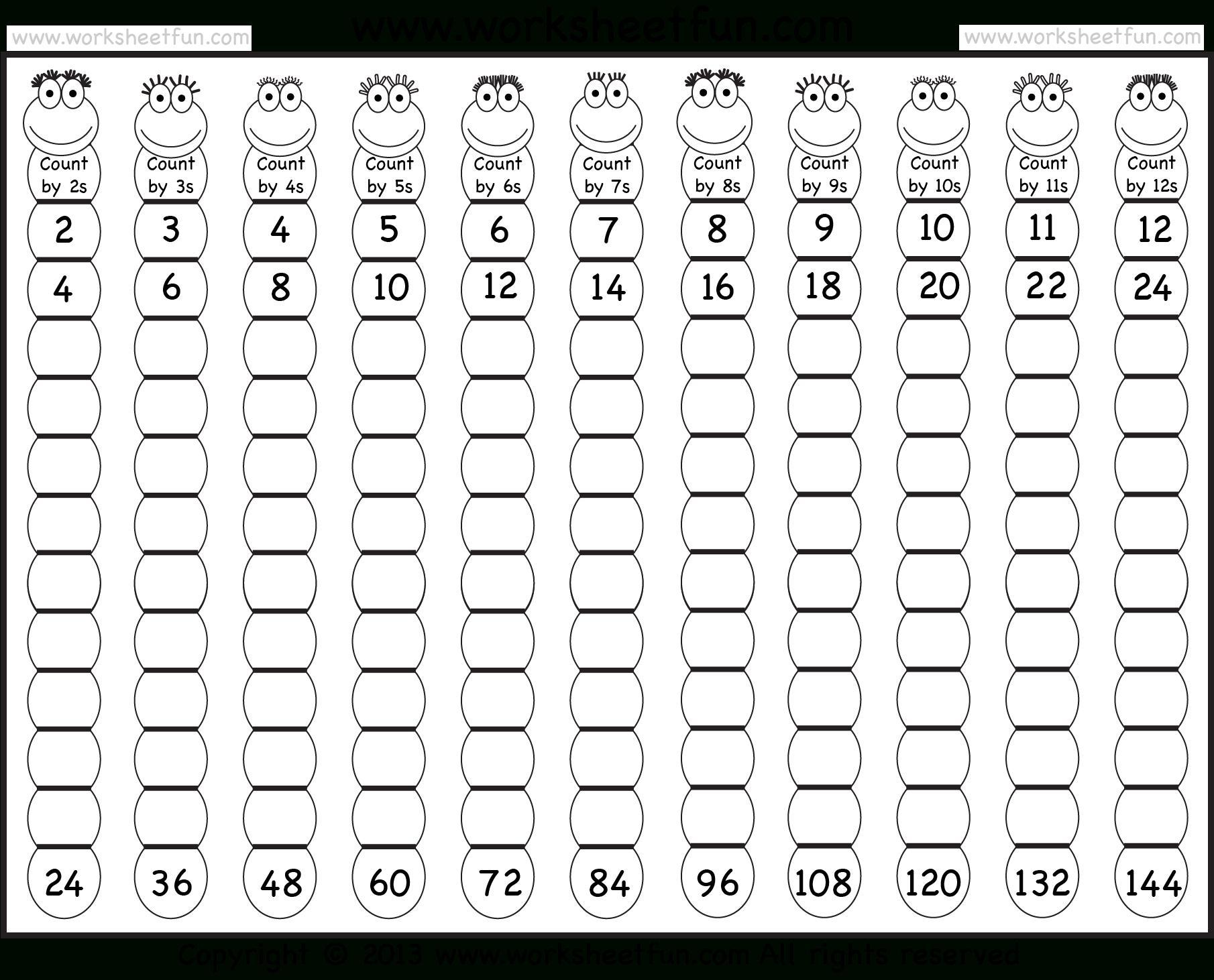 Multiplication Worksheets Table 1