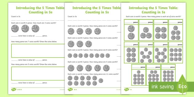 Multiplication Worksheets To 5