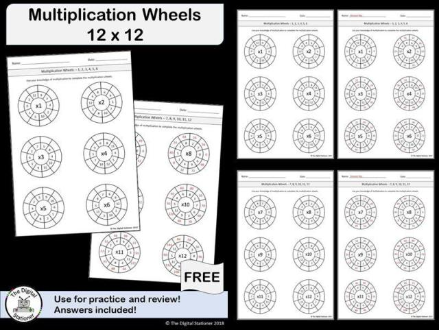 Multiplication Worksheets Up To 12×12 4