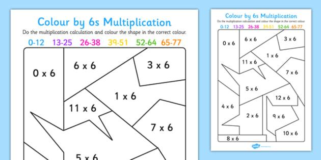 Multiplication Worksheets Up To 6 1