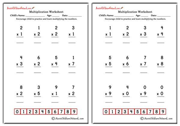 Multiplication Worksheets With Big Numbers