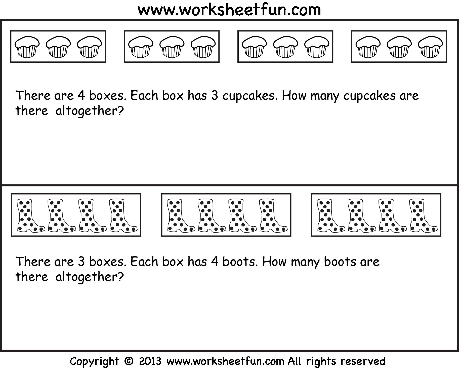 Multiplication Worksheets Word Problems 5th Grade