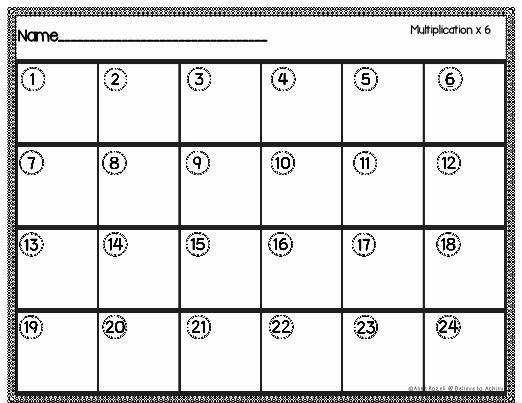 Multiplication Worksheets X6 1