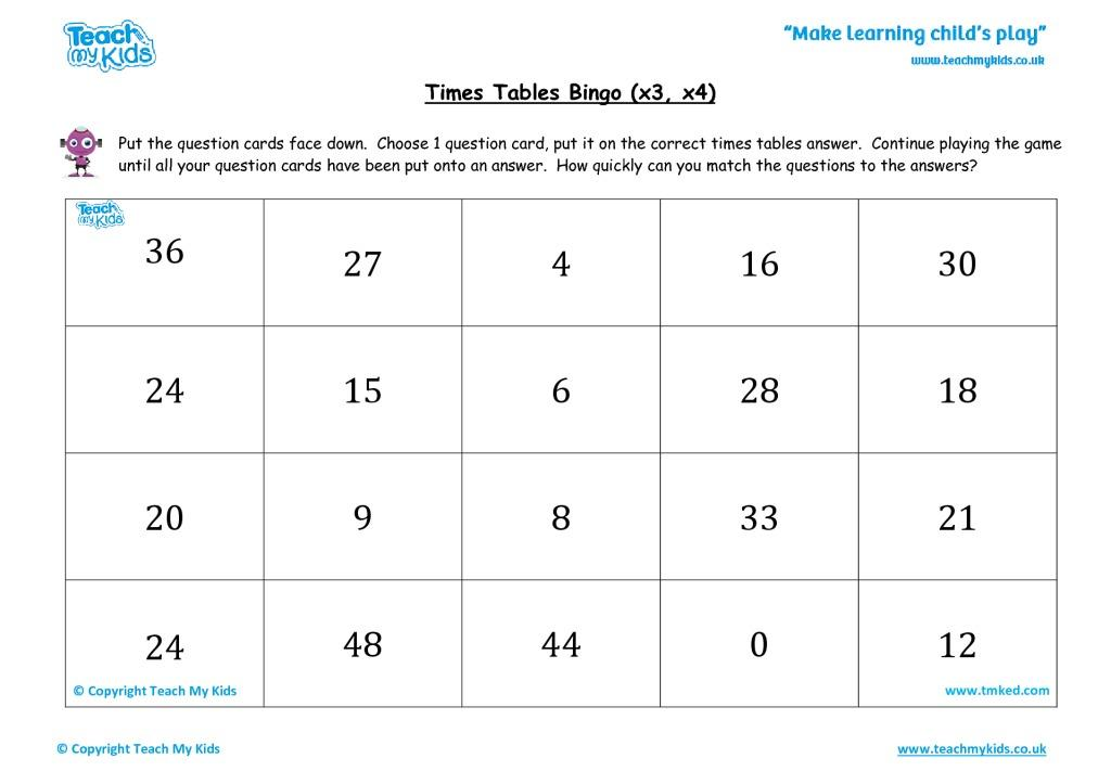 Multiplication X3 Worksheets Pdf