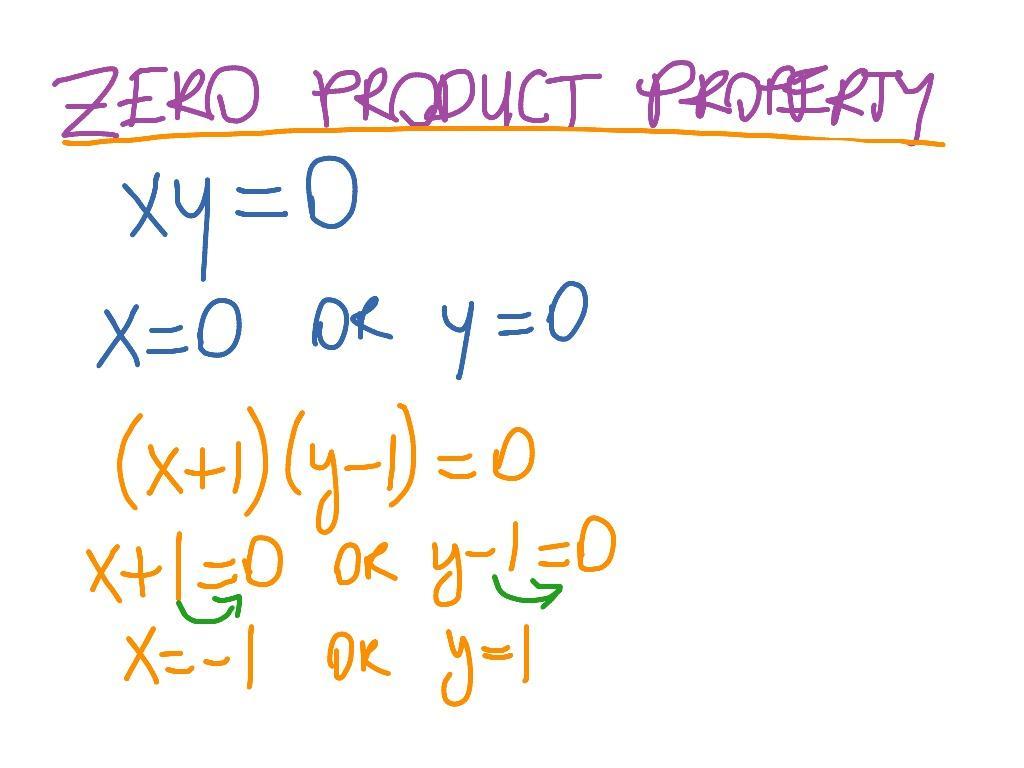 Multiplication Zero Property Worksheet 4