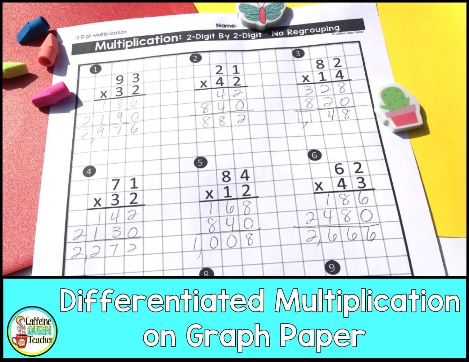 Multiplying Fractions Visual Worksheet Answer Key