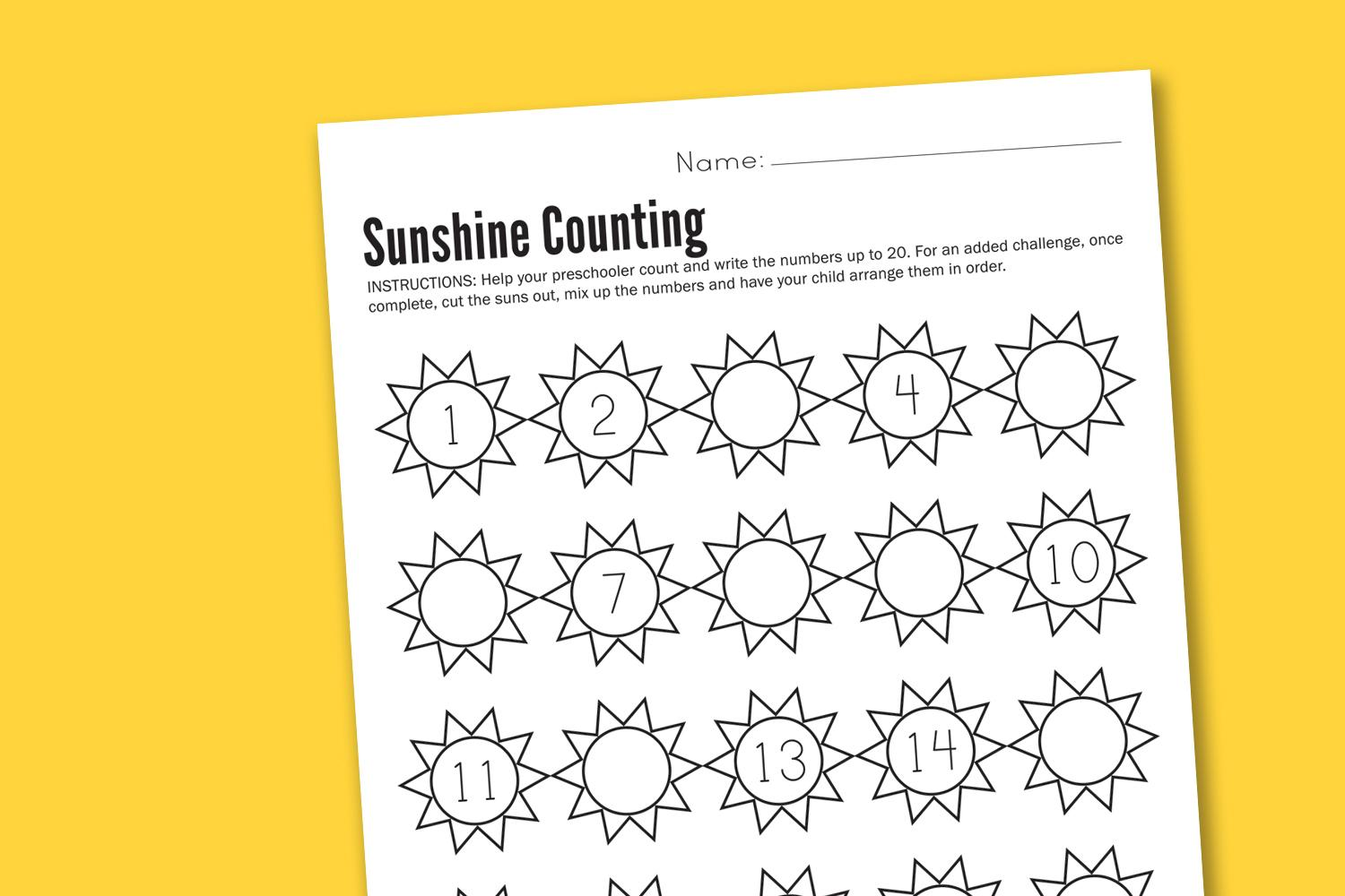 Preschool Worksheets Math Addition