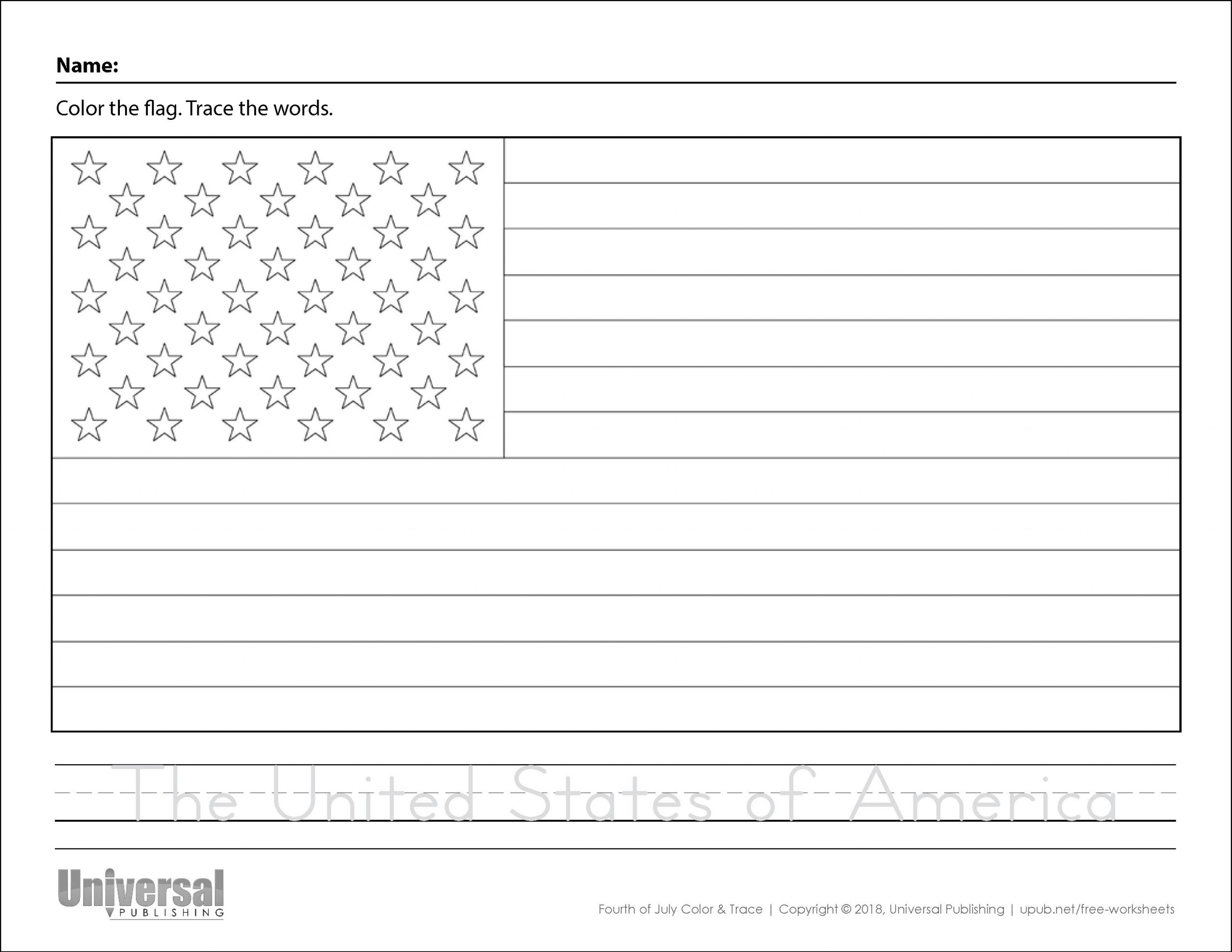 Fourth Of July Worksheets For Preschool
