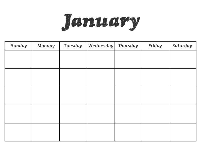 January Worksheets For Preschool