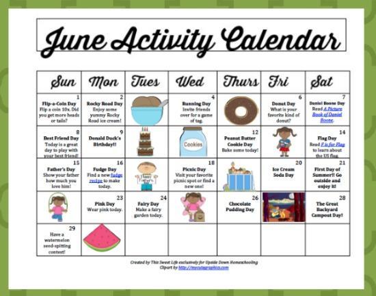 June Preschool Worksheets 2