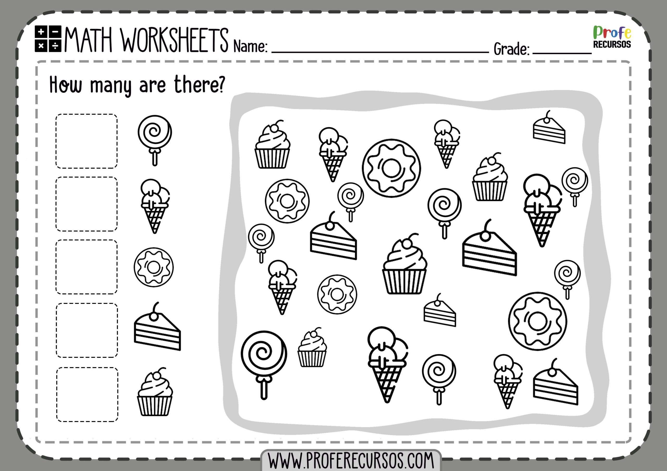 Preschool Counting Worksheets Pdf