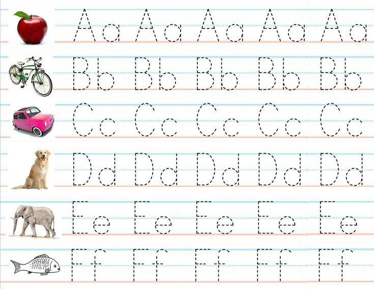 Preschool English Handwriting Worksheets