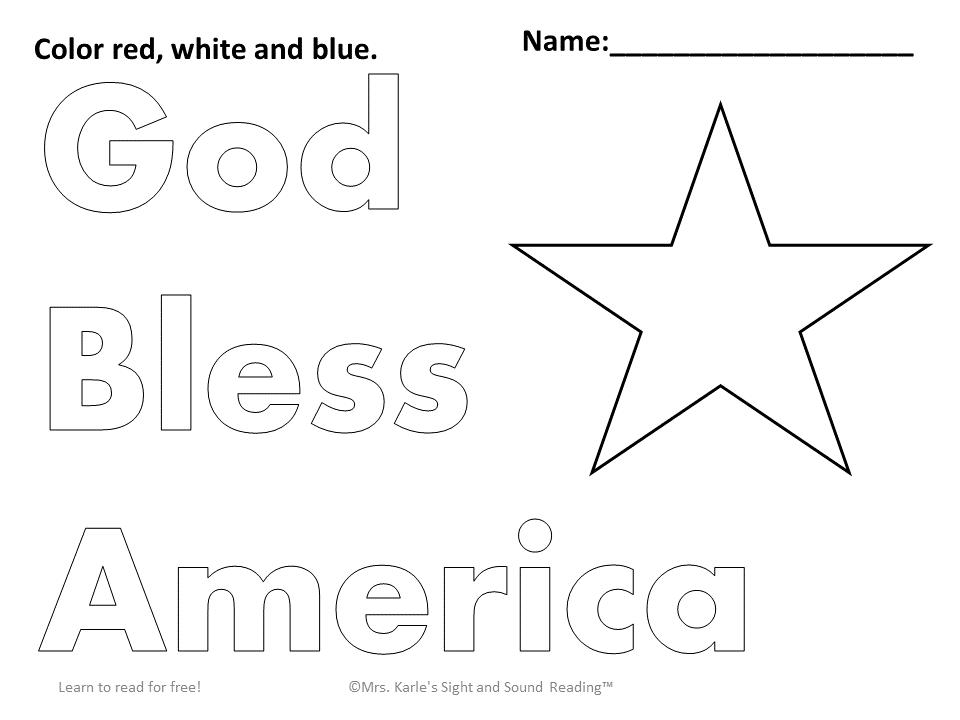 Preschool Fourth Of July Worksheets 5
