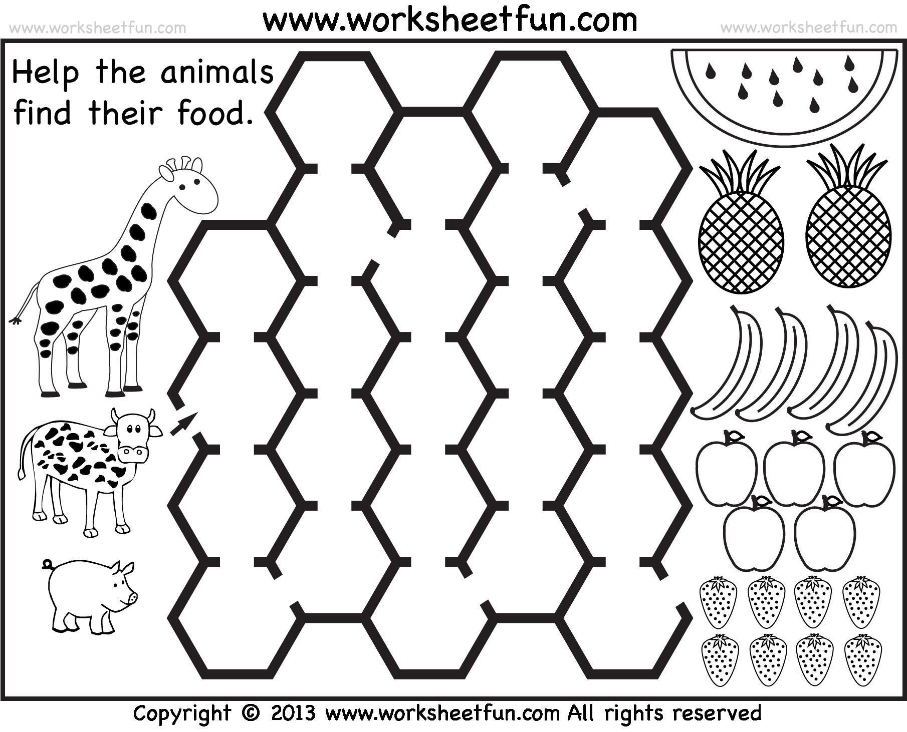 Preschool Kindergarten Math Worksheets