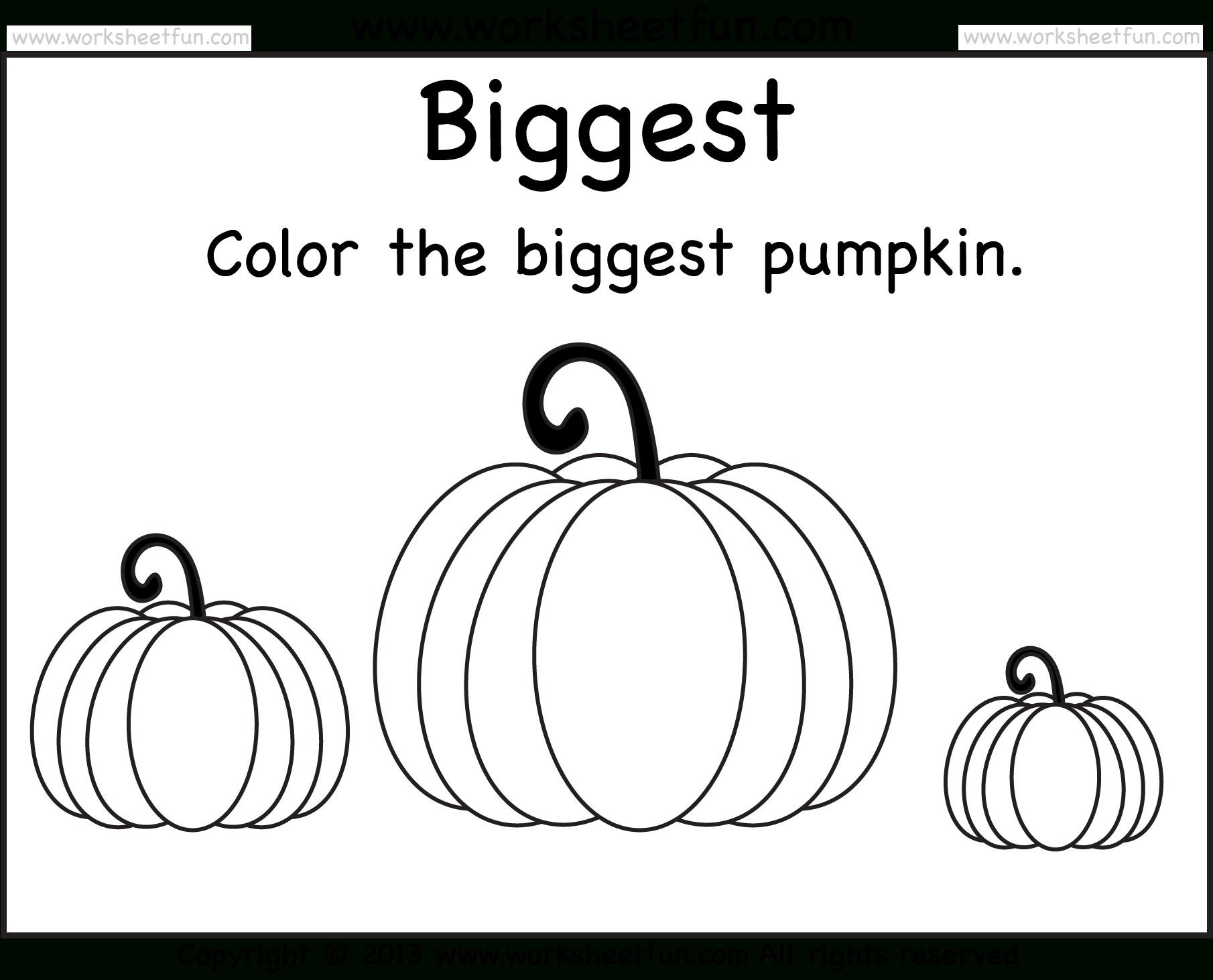 Preschool Math Worksheets Halloween