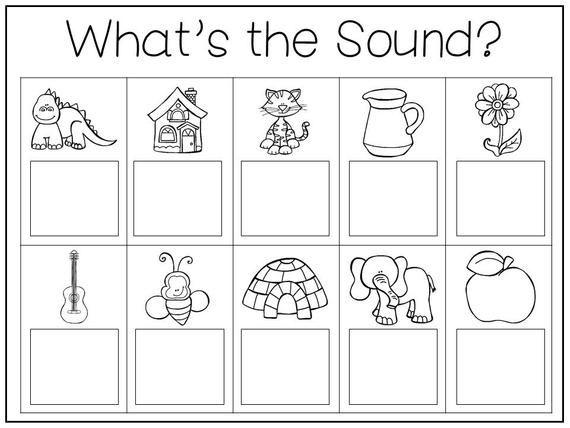 Preschool Worksheets Beginning Sounds 2