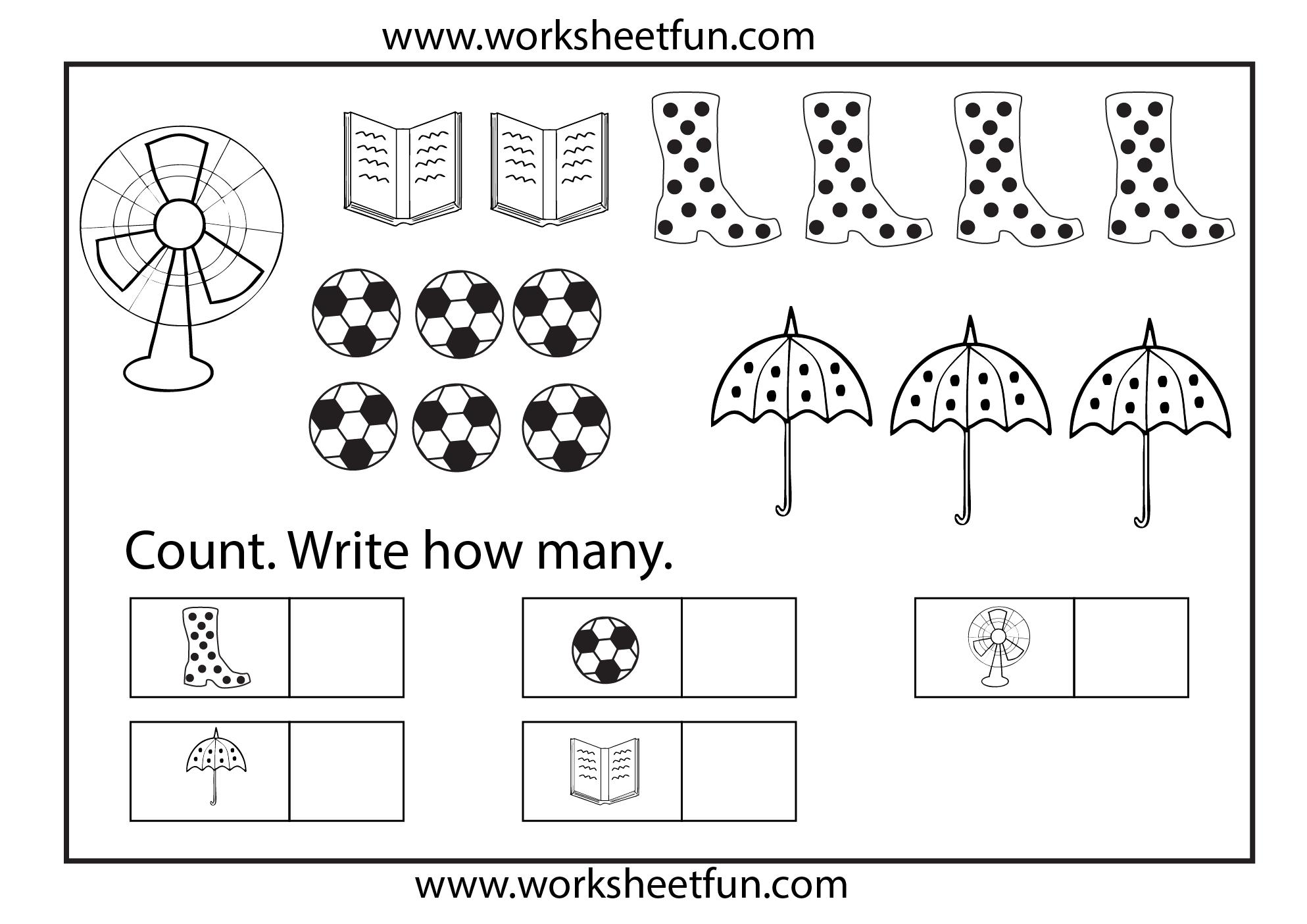 Preschool Worksheets Counting 1