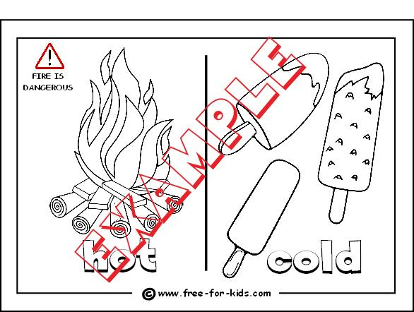 Preschool Worksheets Hot And Cold 3