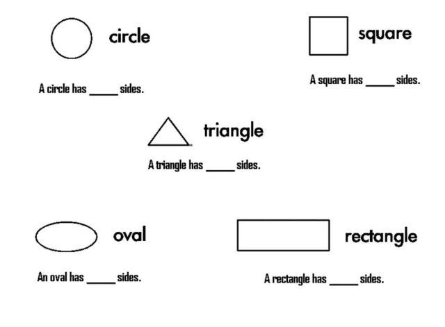 Preschool Worksheets In English
