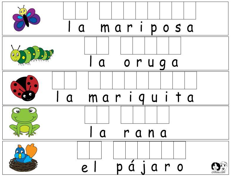 Preschool Worksheets In Spanish 2