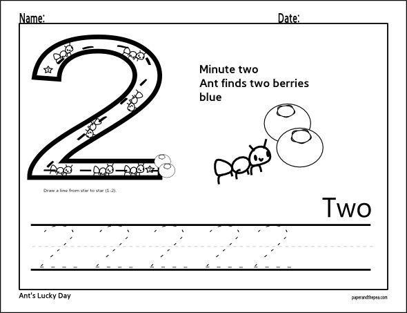 Preschool Number 20 Worksheets