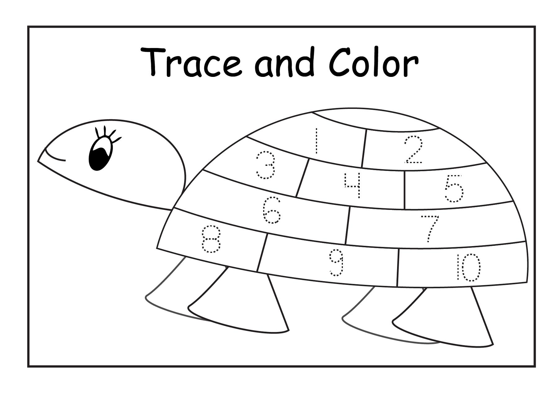 Preschool Number Tracing Worksheets 1-10