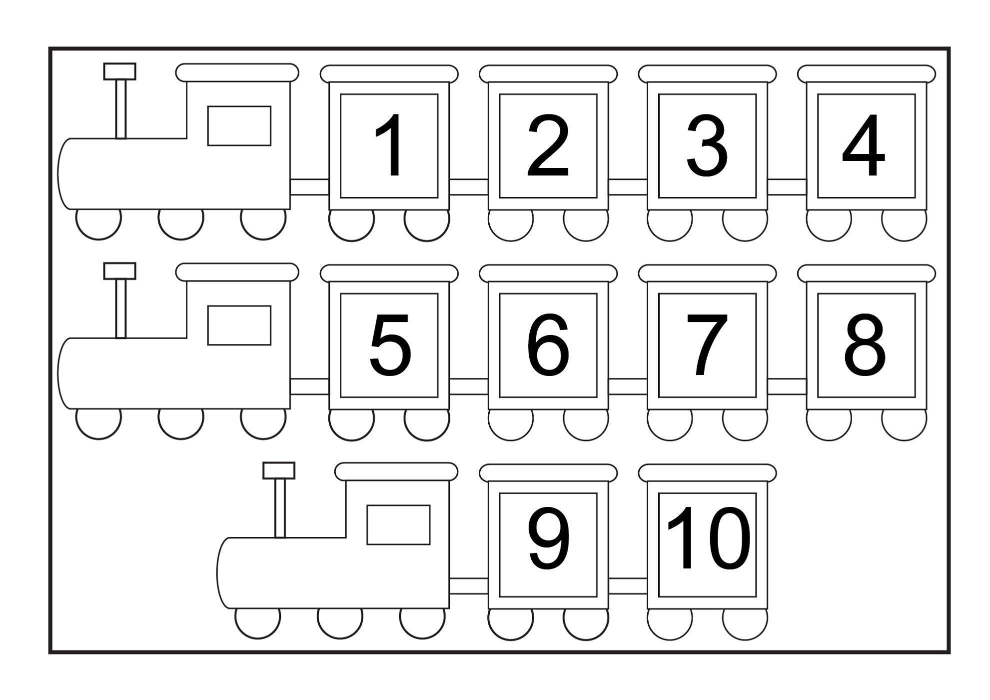 Preschool Printables Numbers 1-10