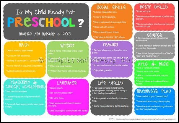 Preschool School Readiness Worksheets